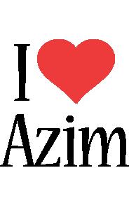 Azim i-love logo