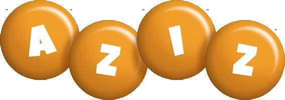 Aziz candy-orange logo