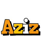 Aziz cartoon logo