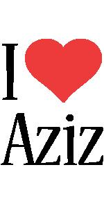 Aziz i-love logo