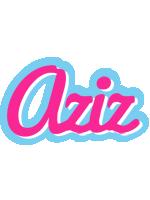Aziz popstar logo