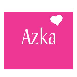 Azka love-heart logo
