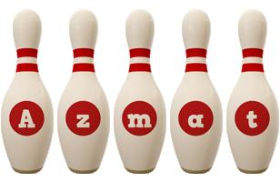 Azmat bowling-pin logo