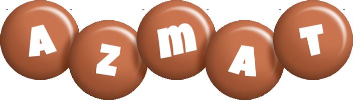 Azmat candy-brown logo