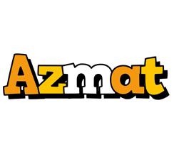 Azmat cartoon logo