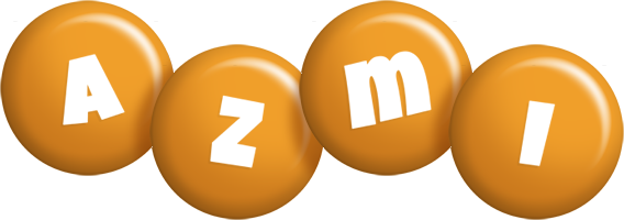 Azmi candy-orange logo