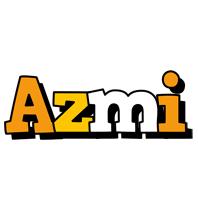 Azmi cartoon logo