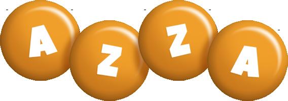 Azza candy-orange logo