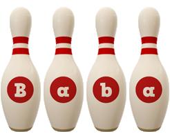 Baba bowling-pin logo