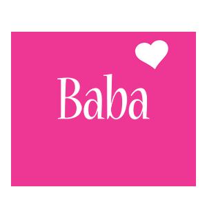 Baba love-heart logo