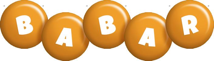 Babar candy-orange logo