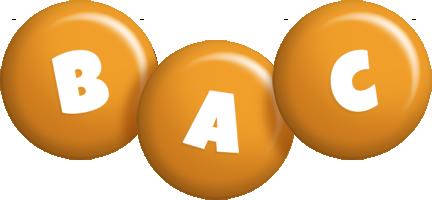 Bac candy-orange logo