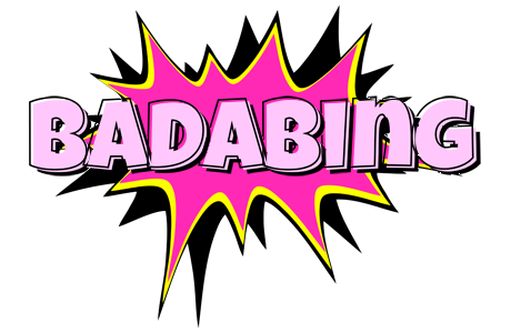 BADABING logo effect. Colorful text effects in various flavors. Customize your own text here: https://www.textGiraffe.com/logos/badabing/