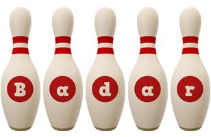 Badar bowling-pin logo
