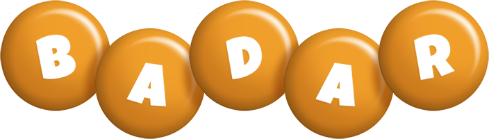 Badar candy-orange logo