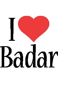 Badar i-love logo