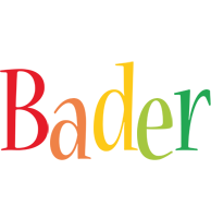 Bader birthday logo