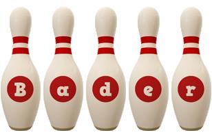 Bader bowling-pin logo