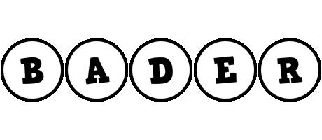 Bader handy logo
