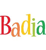 Badia birthday logo