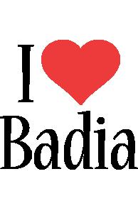 Badia i-love logo