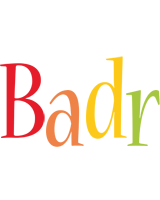 Badr birthday logo