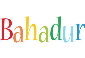 Bahadur birthday logo