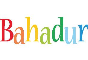 Bahadur birthday logo