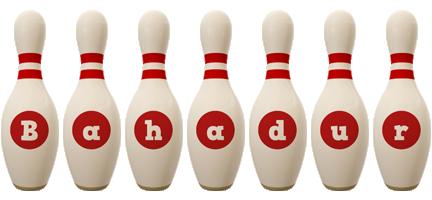 Bahadur bowling-pin logo