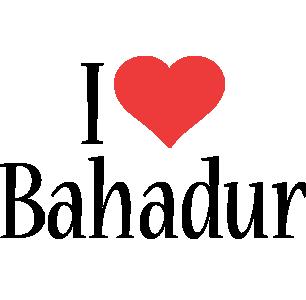 Bahadur i-love logo