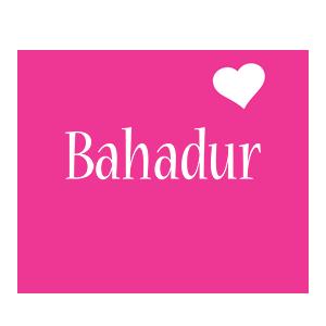 Bahadur love-heart logo