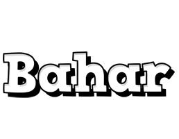 Bahar snowing logo