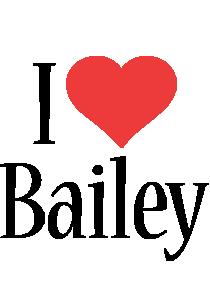 Bailey i-love logo
