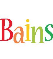 Bains birthday logo