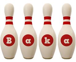 Baka bowling-pin logo