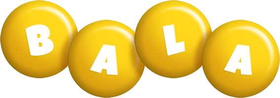 Bala candy-yellow logo