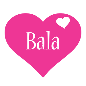 Bala love-heart logo