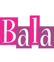 Bala whine logo