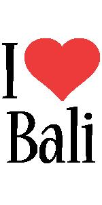 Bali i-love logo