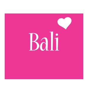 Bali love-heart logo