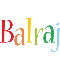 Balraj birthday logo
