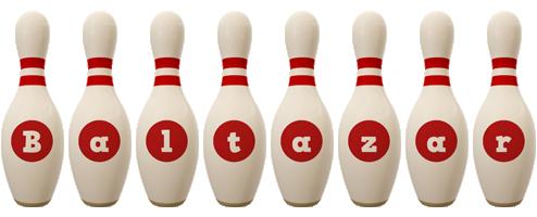 Baltazar bowling-pin logo