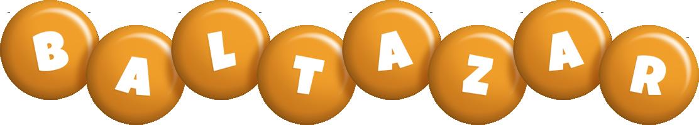 Baltazar candy-orange logo