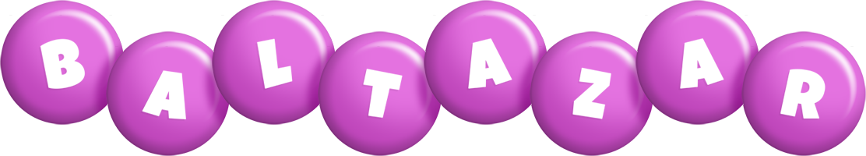 Baltazar candy-purple logo
