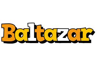 Baltazar cartoon logo