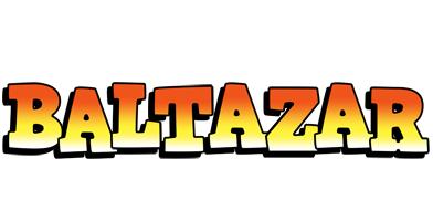 Baltazar sunset logo