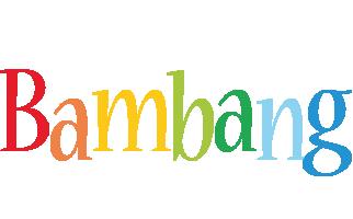Bambang birthday logo