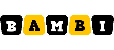Bambi boots logo