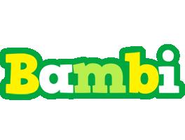 Bambi soccer logo