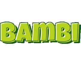 Bambi summer logo